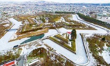盡情暢遊雪之函館的家族之旅 ~湯之川溫泉、五稜郭、五函館篇~